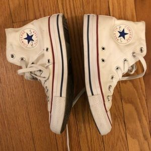 White High Top Converse, 6.5